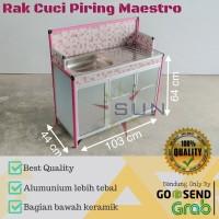 Meja Cuci Piring Keramik + Alumunium Super