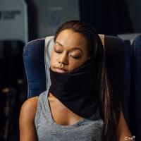 TaffSPORT Bantal Selimut Leher Travel Pillow Unisex - NF302 - Black