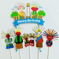 Ondel Ondel ku Topper Cake Birthday / Hiasan Kue Ulang Tahun
