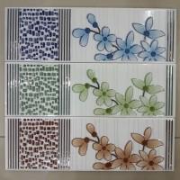 List Keramik Dinding 8x25 Lis Plint Glitter Bunga