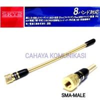 Antena HT Helical Gold Yaesu VHF antene ht Helical sma male SKY2
