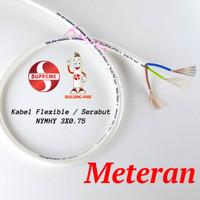 Kabel Listrik Flexible Putih NYMHY 3x0.75 SUPREME Serabut SNI *Meteran