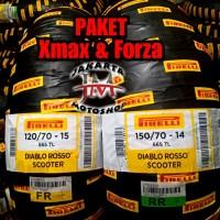 PAKET Ban Pirelli Diablo Rosso 120 70 Ring 15 -150 70 Ring 14 For XMAX