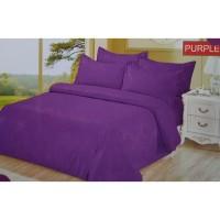 Full Set Bedcover + Sprei Bonita Polos King 180 Warna Purple Ungu
