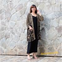 Long Outer Batik Wanita Cardigan Tunik Panjang - Ondel2 Betawi