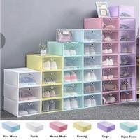 Kotak sepatu|kotak sepatu lipat flip murah|kotak tempat penyimpanan - Mixed Warna