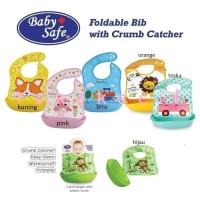 Baby Safe Foldable Bib with Crumb Catcher slabber plastik BIB02