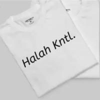 kaos baju unik pria tulisan halah KNTL