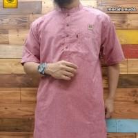 baju gamis kurta al amwa shanghai lengan pendek cotton serat india