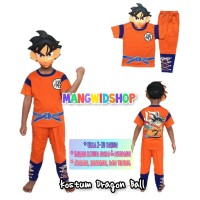 Baju Anak / Stelan/ Kostum Dragon Ball 1-10tahun