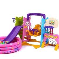 Komplit Playground Baby Kids slider swing ball frame Playground music
