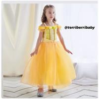 Kostum baju dress princess belle anak hadiah ulang tahun anak gaun