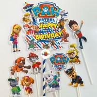 Paw Patrol Team Topper Cake Birthday / Hiasan Kue Ulang Tahun