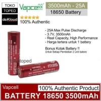 Authentic VAPCELL 18650 3500mAh 25A Battery | batre baterai batere