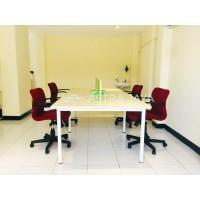 Meja kerja / meja kantor 4 orang meja partisi