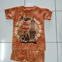 setelan kaos anak Jogja baju santai baju main oleh oleh Jogja batik