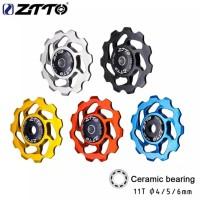 ZTTO Ceramic Bearing Pulley 11T RD Rear Derailleur Jockey Wheel Sepeda