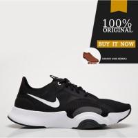 Sepatu Training Gym Original Sepatu Nike SuperRep Go - Black/White