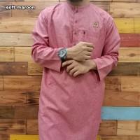 baju gamis kurta al amwa lengan panjang oblong cotton serat india