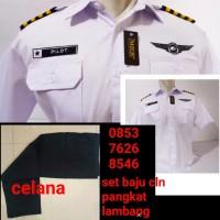 baju kerja seragam pilot pria dewasa