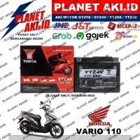Aki Motor Honda Vario 110 Techno FI CW CBS YTZ4V YUASA Accu Kering MF