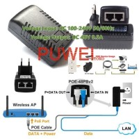 POE Adapter 48 V 0.5 A 24 W Injector IP Kamera CCTV Power Supply FC23