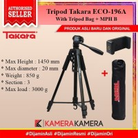 tripod Takara eco-196a for camera DSLR Mirrorless free bag holder U