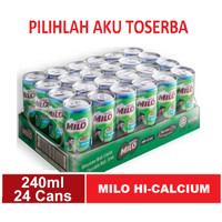 Susu Milo Kaleng Coklat ACTIVE GO HI-CALCIUM - 240 ml (isi 24 can)