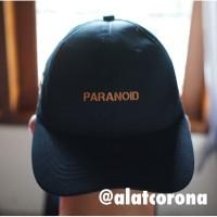ASSC x UNDEFEATED Paranoid Black Cap/Topi ASSC Paranoid x UNDEFEATED