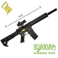 Syariah Toys Pistol Kokang Peluru Bulat M-416 COBRA
