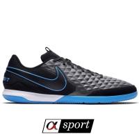 Sepatu Futsal Nike TIEMPO LEGEND 8 ACADEMY IC - Black/Blue [ORIGINAL]