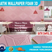 BATIK SIMPUL l Wallpaper 3D Foam Stiker Peredam Suara dan Panas