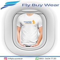 Baju Kaos T-Shirt Penerbangan Singapore Airlines SQ
