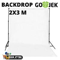 kain backdrop warna putih untuk background studio foto ukuran 2 x 3 m
