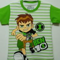 1-6T Baju Kaos anak Karakter Laki laki BEN 10 salur