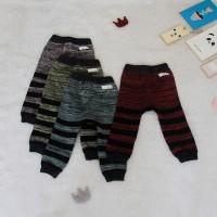 Legging Bayi Atlas Stripe - 3-6 Bulan, Cokelat