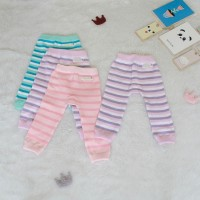 Legging Bayi Candy Stripe - 3-6 Bulan, Ungu