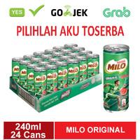 Susu Milo Kaleng Coklat ACTIVE GO ORIGINAL - 240 ml (isi 24 can)
