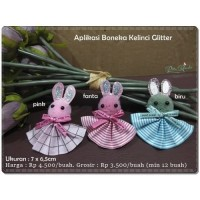 ATB-15 : Aplikasi Boneka Kelinci Glitter
