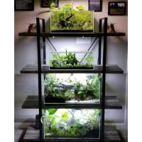 meja aquarium tank aquascape terarium, rak buku meja hias