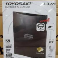 Original Antene Tv Toyosaki 220 Plus 10M kabel antene outdoor lua