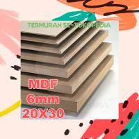 Papan Kayu MDF 5mm DAPET TEBEL 6mm! Uk. 20cm x 30cm