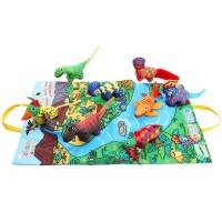 DV Jollybaby Buku Cerita Dinosaurus 3D Bahan Kain