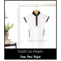 ZERLIN Baju Jubah Gamis Putih Anak Laki Aqiqah Cowok Bayi Koko Muslim