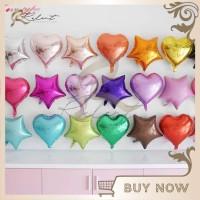 Balon Foil Hati 43 cm 17 inch Love Balloon Dekorasi Pesta Ulang Tahun