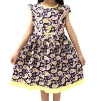 Baju Dress Anak Perempuan Cantik Batik Katun Dasar Hitam Ukuran 1-10