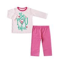 Bearhug Piyama Bayi Perempuan BE You Tiful Pink XPD 6-18 Bulan