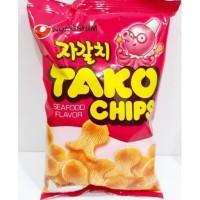 Nongshim Tako Chips Snack Korea Rasa Tako Seafood