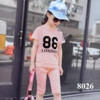 Baju setelan anak perempuan ST girl katun usia 3 4 5 6 7 tahun murah