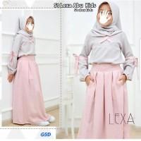 setelan baju muslim anak perempuan|st lexa kids